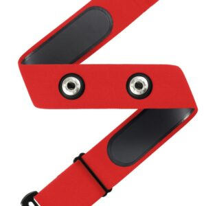רצועת דופק (ללא חיישן) תואמת GARMIN POLAR ו WAHOO  – צבע אדום